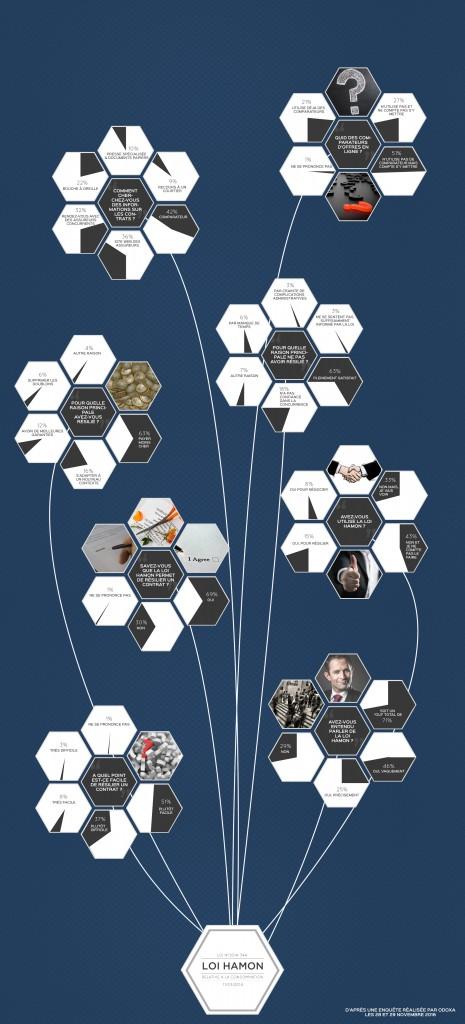 Infographie recensant les impacts de la loi Hamon